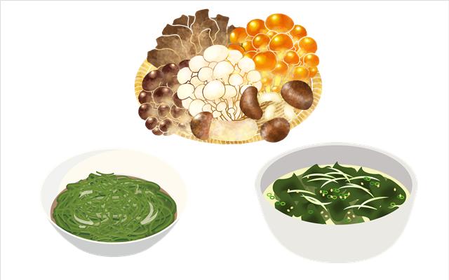 ファスティング(断食)後の回復食に食べて良い物 キノコ類や海藻類