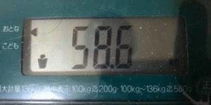 体重58.6㎏