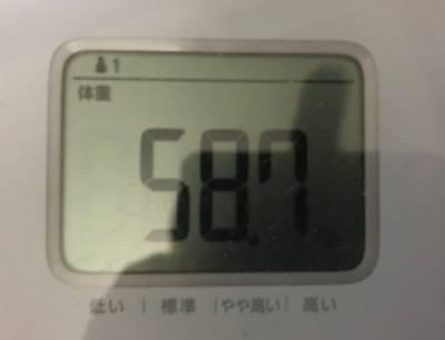 体重58.7㎏