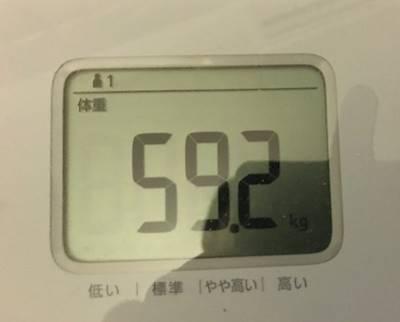 体重59.2㎏