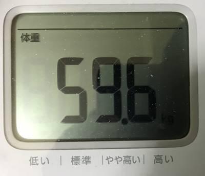 体重59.6㎏