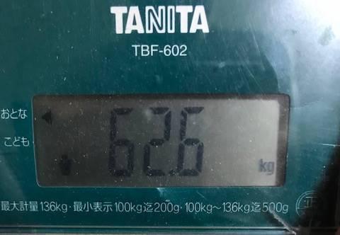体重62.6㎏