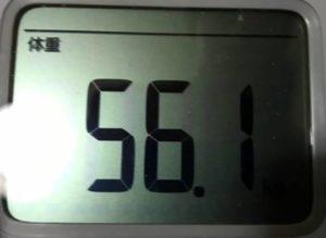 第7回断食回復食体重56.1㎏